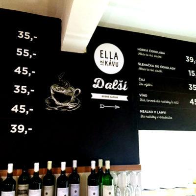 Tapeta s tištěnou grafikou - Ella má kávu